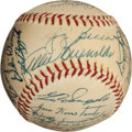 Autographs:Baseballs, 1954 New York Yankees Team Signed Baseball, PSA/DNA NM 7....