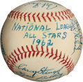 Autographs:Baseballs, 1962 National League All-Star Team Signed Baseball, PSA/DNA NM+7.5....