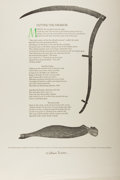 Books:Prints & Leaves, [Broadside]. William Everson. SIGNED/LIMITED. Cutting the Firebreak. Swanton: Kingfisher, [1978]. Limited to 200 c...