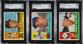 Baseball Cards:Lots, 1960 Topps Baseball SGC 98 GEM 10 Trio (3) - Three of the FourKnown! ...