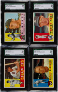Baseball Cards:Lots, 1960 Topps Baseball HoFers SGC 96 Mint 9 Quartet (4)....