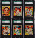 Baseball Cards:Lots, 1934-36 R327 Diamond Stars Baseball SGC 88 NM/MT 8 Collection (6)....