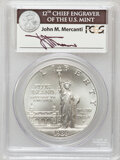 Modern Issues: , 1986-P $1 Statue of Liberty Silver Dollar MS70 PCGS. PCGSPopulation (147). NGC Census: (178). Mintage: 723,635.Numismedia...