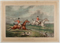 "Books:Prints & Leaves, Charles Bentley after Henry Alken. Hand-Colored Lithograph ""FullCry."" 20 x 14 inches. Published London, October, 1828 by S...."