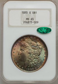 1885-O $1 MS65 NGC Details. CAC. NGC Census: (25269/4607). PCGS Population (17176/2366). Mintage: 9,185,000. Numismedia...