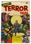 "Golden Age (1938-1955):Horror, Beware Terror Tales #1 Davis Crippen (""D"" Copy) pedigree (Fawcett,1952) Condition: VF. Bernard Baily cover. Baily and Bob P..."
