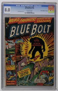 "Blue Bolt #109 Davis Crippen (""D"" Copy) pedigree (Star Publications, 1951) CGC VF 8.0 Off-white pages. Basil W..."