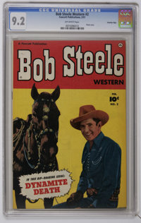 Bob Steele Western #2 Crowley Copy pedigree (Fawcett, 1951) CGC NM- 9.2 Off-white pages. Photo cover. Back cover photo p...