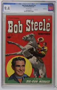 Bob Steele Western #4 Crowley Copy pedigree (Fawcett, 1951) CGC NM 9.4 Off-white pages. Photo cover. Last issue with a b...