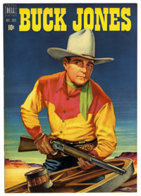 Buck Jones #4 (Dell, 1951) Condition: NM. Painted front and back covers. Overstreet 2006 NM- 9.2 value = $85
