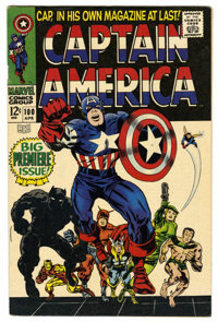 Captain America #100 (Marvel, 1968) Condition: FN+. Captain America's origin is retold. Black Panther appearance. Jack K...
