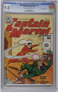 """Golden Age (1938-1955):Superhero, Captain Marvel Adventures #91 Crowley Copy/File Copy (Fawcett, 1948) CGC VF/NM 9.0 Cream to off-white pages. Bears a """"Checki..."""
