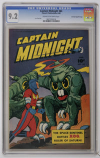 Captain Midnight #64 Crowley Copy/File Copy (Fawcett, 1948) CGC NM- 9.2 Cream to off-white pages. Len Frank art. Cover b...