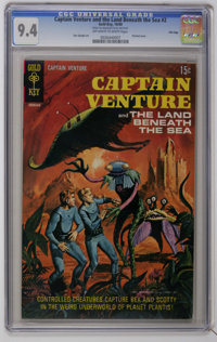 Captain Venture & The Land Beneath The Sea #2 File Copy (Gold Key, 1969) CGC NM 9.4 Off-white to white pages. La...