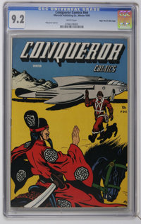 Conqueror Comics #nn Mile High pedigree (Albrecht Publishing, 1945) CGC NM- 9.2 White pages. This is the first copy of t...
