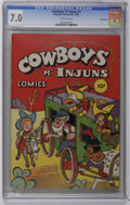 Golden Age (1938-1955):Funny Animal, Cowboys 'n' Injuns #1 Carson City pedigree (Compix, 1946) CGC FN/VF7.0 Off-white pages. Funny animal Western stories. First...