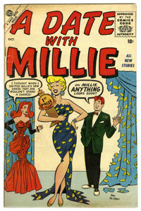 A Date With Millie #1 (Atlas, 1956) Condition: VG+. Dan DeCarlo art. Overstreet 2006 VG 4.0 value = $54