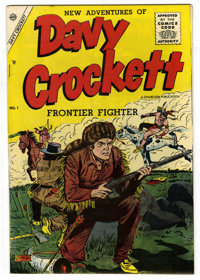 Davy Crockett #1 (Charlton, 1955) Condition: VF+. White pages. This issue has the look of a pedigree book and we believe...