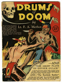 Drums of Doom #nn (United Features Syndicate, 1937) Condition: GD/VG. Skull cover. By Lt. F. A. Methot.Golden Thunder Ap...