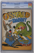 "Golden Age (1938-1955):Funny Animal, Four Color #143 Owsald the Rabbit - Davis Crippen (""D"" Copy)pedigree (Dell, 1947) CGC VF+ 8.5 Off-white to white pages. Osw..."