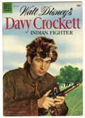 Golden Age (1938-1955):Adventure, Four Color #631 Davy Crockett (Dell, 1955) Condition: VF-. Fess Parker photo cover. Back cover pin-up. Overstreet 2006 VF 8....