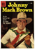 Silver Age (1956-1969):Western, Four Color #834 Johnny Mack Brown (Dell, 1957) Condition: VF/NM White pages. Photo cover. Overstreet 2006 VF/NM 9.0 value = ...