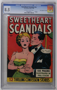 "Fox Giants Sweetheart Scandals #nn Davis Crippen (""D"" Copy) pedigree (Fox Features Syndicate, 1950) CGC VF+ 8..."