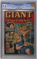 "Golden Age (1938-1955):Crime, Giant Comics Edition #4 Davis Crippen (""D"" Copy) pedigree (St. John, 1949) CGC VF- 7.5 Off-white to white pages. Bob Lubbers..."