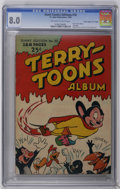 "Golden Age (1938-1955):Funny Animal, Giant Comics Edition #10 Terry-Toons Album - Davis Crippen (""D""Copy) pedigree (St. John, 1949) CGC VF 8.0 Off-white to white ..."