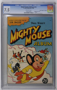 "Giant Comics Edition #14 Mighty Mouse Album - Davis Crippen (""D"" Copy) pedigree (St. John, 1950) CGC VF- 7.5 O..."