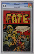 "Golden Age (1938-1955):Horror, The Hand of Fate #15 Davis Crippen (""D"" Copy) pedigree (Ace, 1952)CGC VF 8.0 Off-white to white pages. Overstreet 2006 VF 8..."