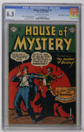 "Golden Age (1938-1955):Horror, House of Mystery #3 Davis Crippen (""D"" Copy) pedigree (DC, 1952)CGC FN+ 6.5 Off-white to white pages. Bob Brown cover. Brow..."