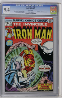 Iron Man #75 (Marvel, 1975) CGC NM 9.4 White pages. Iron Man battles Modok and the Black Lama. Gil Kane cover. Arvell Jo...
