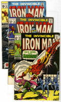Silver Age (1956-1969):Superhero, Iron Man Group (Marvel, 1969-71) Condition: average FN. Contains #10, 14, 16, 20, 21, #22 (death of Janice Cord), 23, 24, #2... (Total: 16 Comic Books)