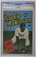 Golden Age (1938-1955):Miscellaneous, Jackie Robinson #3 Crowley Copy pedigree (Fawcett, 1950) CGC VF- 7.5 Photo cover. Story by Charles Dexter. Overstreet 2006 V...