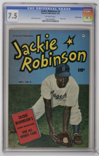 Jackie Robinson #3 Crowley Copy pedigree (Fawcett, 1950) CGC VF- 7.5 Photo cover. Story by Charles Dexter. Overstreet 20...