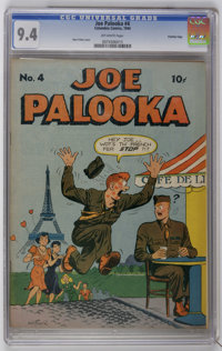 Joe Palooka #4 Crowley Copy pedigree (Columbia Comic Corporation, 1944) CGC NM 9.4 Off-white pages. Features a cover by...