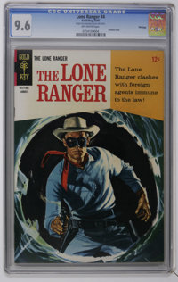 Lone Ranger CGC File Copy Group (Gold Key, 1966-69). Includes a CGC NM+ 9.6 copy of #4 (back cover photo pin-up) and C...