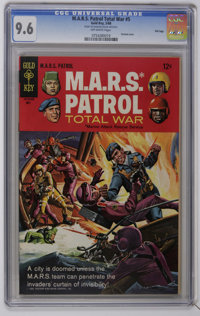 M.A.R.S. Patrol Total War #5 and 7-9 CGC File Copy Group (Gold Key, 1968-69). Contains a CGC NM 9.4 copy of #7 (line dra...