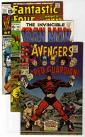 Bronze Age (1970-1979):Superhero, Marvel Superhero Group (Marvel, 1967-72) Condition: Average NM-. Includes Avengers #43 (first appearance of Red Guardian... (Total: 4 Comic Books)