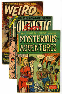 Miscellaneous Golden Age Horror Group (Various, 1951-54) Condition: Average GD/VG. Includes Fantastic Fears #9; Myster...