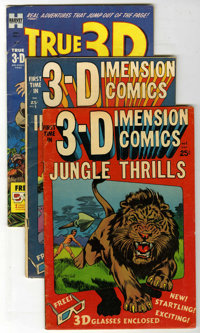 Miscellaneous Golden Age 3-D Group (Various Publishers, 1953-54). Experience comics 3-D style. Includes Jungle Thrills #...