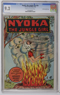 "Golden Age (1938-1955):Adventure, Nyoka the Jungle Girl #20 Crowley Copy/File Copy (Fawcett, 1948) CGC NM- 9.2 Cream to off-white pages. Bears a ""Checking Cop..."