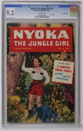 Golden Age (1938-1955):Adventure, Nyoka the Jungle Girl #72 Crowley Copy pedigree (Fawcett, 1952) CGC NM- 9.2 Off-white pages. Photo cover. Overstreet 2006 NM...