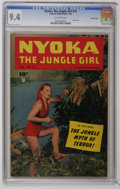 Golden Age (1938-1955):Adventure, Nyoka the Jungle Girl #75 Crowley Copy pedigree (Fawcett, 1953) CGC NM 9.4 Off-white pages. Photo cover. Overstreet 2006 NM-...