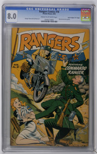 "Rangers Comics #18 Davis Crippen (""D"" Copy) pedigree (Fiction House, 1944) CGC VF 8.0 Cream to off-white pages..."