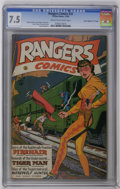 "Golden Age (1938-1955):Adventure, Rangers Comics #32 Davis Crippen (""D"" Copy) pedigree (Fiction House, 1946) CGC VF- 7.5 Cream to off-white pages. Joe Doolin ..."