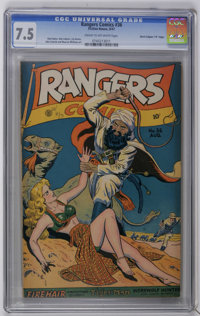 "Rangers Comics #36 Davis Crippen (""D"" Copy) pedigree (Fiction House, 1947) CGC VF- 7.5 Cream to off-white page..."