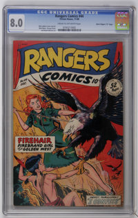 "Rangers Comics #44 Davis Crippen (""D"" Copy) pedigree (Fiction House, 1948) CGC VF 8.0 Cream to off-white pages..."