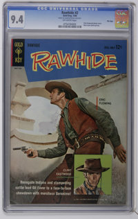 Rawhide #2 File Copy (Gold Key, 1964) CGC NM 9.4 Off-white pages. Clint Eastwood and Eric Fleming photo cover. Back cove...
